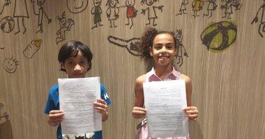 """أطفال يكتبون لأنفسهم .. كتاب """"قلبى مليان بحكايات"""" لطفلين عمرهما 10 سنوات"""