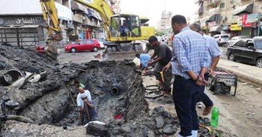 انقطاع المياه عن بعض المناطق بالجيزة بسبب كسر مفاجئ بخط إمبابة
