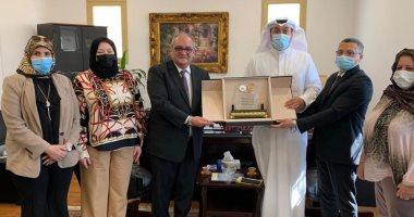 """""""التمثيل العمالى"""" يبحث مع اتحاد عمال الكويت حقوق وواجبات العمالة المصرية"""