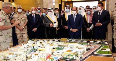الرئيس السيسي يتفقد جامعة الملك سلمان بشرم الشيخ والمبانى التابعة لها