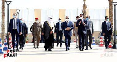 الرئيس السيسى يفتتح فرع جامعة الملك سلمان برأس سدر عبر الفيديو كونفرانس