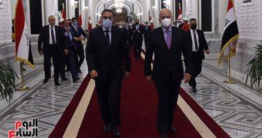 رئيس الوزراء يلتقى الرئيس العراقى برهم صالح خلال زيارته لبغداد
