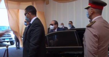 الرئيس السيسى يصل مقر افتتاح جامعة الملك سلمان وعدد من المشروعات