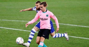 صورة أهداف مباراة ألافيس ضد برشلونة 1 – 1 فى الدورى الإسبانى