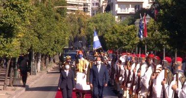 تغطية حية من تليفزيون اليوم السابع .. زيارة الرئيس السيسى لليونان