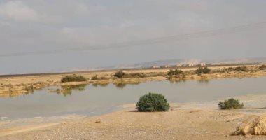 هطول أمطار بمناطق فى شمال سيناء.. والمحافظة ترفع درجة الاستعدادات.. صور