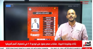 تغطية خاصة لتليفزيون اليوم السابع لفوز منتخب مصر على توجو.. فيديو