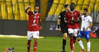 أبو قير  بـ10 لاعبين يسجل هدف تقليص الفارق أمام الأهلى (2-1).. فيديو وصور