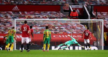 مانشستر يونايتد يتخطى وست بروميتش بصعوبة فى الدوري الإنجليزي.. فيديو
