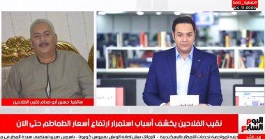 حسين أبو صدام خلال لقائه بتلفزيون اليوم السابع