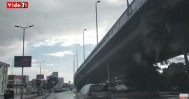 سقوط أمطار ثلجية على القاهرة الكبرى.. فيديو
