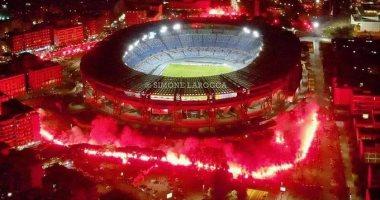جماهير نابولى تودع مارادونا فى مشهد مهيب أمام ملعب سان باولو.. فيديو وصور