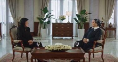 """حرم الرئيس السيسي: """"لما بنقوله الناس فرحانة بالإنجازات يقول لسة معملتش حاجة"""""""