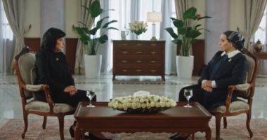 حرم الرئيس السيسي: سعيدة بمعرض تراثنا لأنه أتاح فرصة للسيدات للعمل من منازلهن