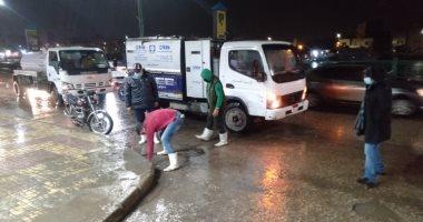 أمطار غزيرة على مدن دمياط ورفع درجة الاستعداد بكافة أجهزة المحافظة.. صور
