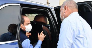 الرئيس السيسى يتفقد معدلات الإنجاز بمشروعات تطوير الطرق فى القاهرة