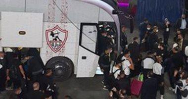 صور.. وصول فريق الزمالك لاستاد القاهرة استعدادا لمواجهة الأهلي