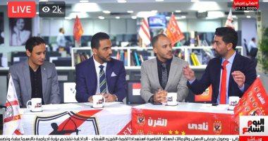 إسلام الشاطر فى استديو تلفزيون اليوم السابع