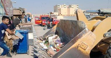 صور.. انطلاق حملة نظافة بشوارع مدينة الحسنة بوسط سيناء