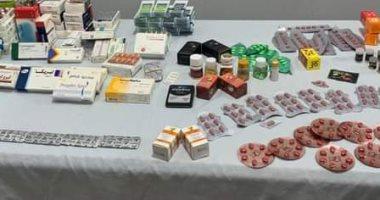 ضبط 2129 عبوة مستحضرات صيدلية و13496 عبوة أدوية بأماكن غير مرخصة بدمياط