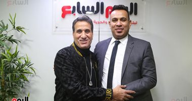 نجما الأغنية الشعبية محمود الليثى وأحمد شيبة في ضيافة تليفزيون اليوم السابع.. صور