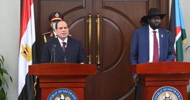 الرئيس عبد الفتاح السيسى ونظيره الجنوب سودانى سيلفا كير