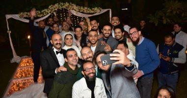 أشرف عبد الباقى ونجوم مسرح مصر في حفل زفاف زميلهم محمد توب