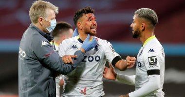 اصابة محمود تريزيجيه في مباراة استون فيلا بالدوري الانجليزي