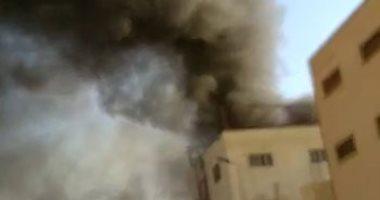 حريق ضخم بمصنع لإنتاج التنر بالعاشر من رمضان..صور وفيديو