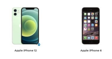 هاتفا iPhone 12 وiPhone 6