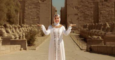 جلسة تصوير فرعونى بالحجاب فى الأقصر بعد سلمى الشيمى فى سقارة.. فيديو وصور