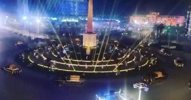 بروفة نقل المومياوات الملكية حول مسلة ميدان التحرير.. فيديو
