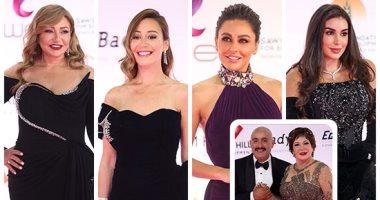 السعودية نيوز |                                              نجوم الفن يتألقون على السجادة الحمراء فى افتتاح مهرجان القاهرة السينمائى