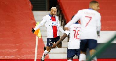 صورة نيمار يسجل ثالث أهداف باريس سان جيرمان ضد مانشستر يونايتد.. فيديو
