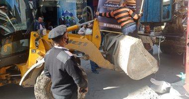 تحرير 3651 مخالفة ومصادرة مضبوطات متنوعة فى حملة لرفع الإشغالات بدمياط