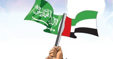 السعودية نيوز |                                              السعودية تهنئ الإمارات باليوم الوطنى الـ49 فى كاريكاتير سعودى