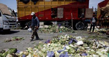 صور..إغلاق طرق بعد أعمال عنف للمزارعين فى بيرو للمطالبة بتحسين أجورهم