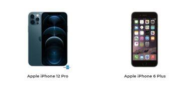 إيه الفرق.. مقارنة بين هاتفى iPhone 12 Pro وiPhone 6 Plus