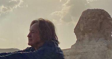 الملياردير الأمريكى محمد حديد يزور الأهرامات بعد حضوره افتتاح مهرجان القاهرة