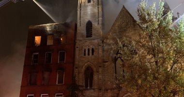 حريق فى مبنى وكنيسة تاريخية بنيويورك وإصابة 4 رجال أطفاء