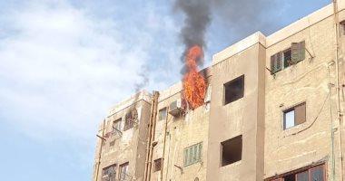 إصابة ربة منزل في حريق شقة ببرج سكنى بالإسماعيلية