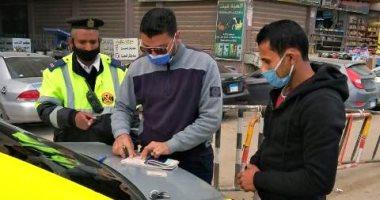 صورة حملات مرورية بالمحاور والشوارع الرئيسية فى القاهرة والجيزة لرصد المخالفين
