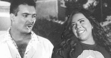 شيماء سيف فى صورة فوتوشوب مع رشدى أباظة أبيض x  أسود