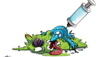 السعودية نيوز |                                              لقاح جديد لمواجهة الشائعات حول فيروس كورونا في كاريكاتير سعودى