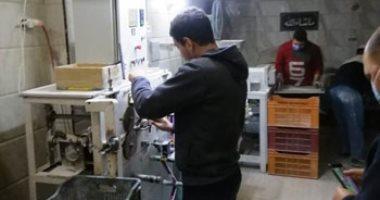 صورة ضبط مصنعين لإنتاج الدهانات والبلاستيك من خامات مجهولة المصدر بالغربية