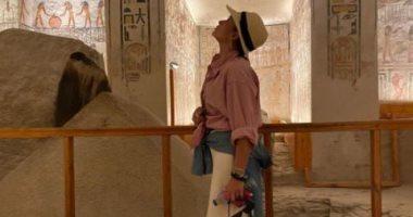 السعودية نيوز |                                              هند صبرى فى أحد المعابد الفرعونية: الرحلة الوحيدة التى ستندم عليها إذا لم تقم بها
