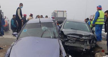 صورة ننشر أسماء المصابين الـ22 فى حادثين منفصلين على طريق الساحل الشمالى