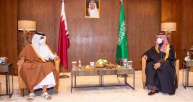 السعودية نيوز |                                              ولى العهد السعودى يبحث مع أمير قطر العلاقات الثنائية.. صور