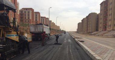 جهاز أكتوبر  الجديدة: بدء أعمال رصف طريق شمال المطار