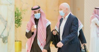 السعودية نيوز                                                إنفانتينو يزور السعودية لبحث سبل تطوير الرياضة فى المملكة